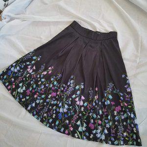 Dupioni digital print flower border skirt size 14